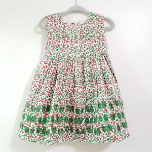 Roller Rabbit Floral Embroidered Dress with Bow
